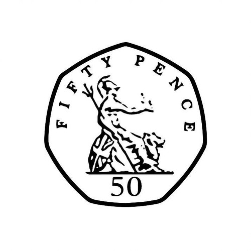 XStamper UK Currency 50p fifty pence - Self inking teacher reward xstamper xclamations stamp