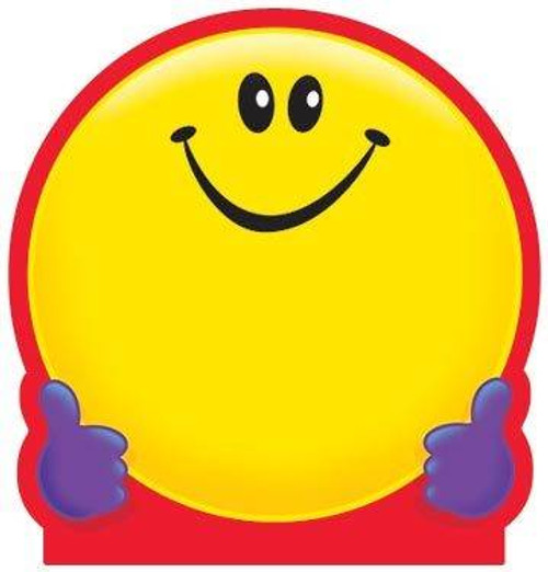 Trend Enterprises Inc Smiley Face Kids fun shaped Note Pad
