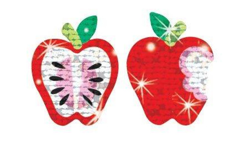 Trend Enterprises Inc TREND Apple Dazzlers 72 Sparkle Stickers