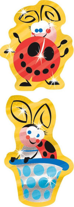 Trend Enterprises Inc TREND Lucky Ladybugs Foil Bright Reward Stickers