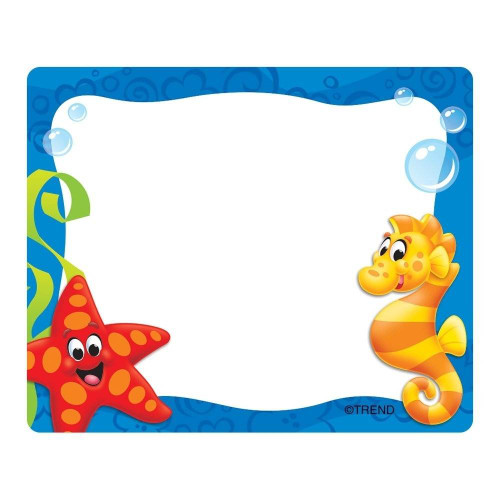 Trend Enterprises Inc 36 Sea Buddies Self Adhesive Name Tag Stickers - Terrific Labels