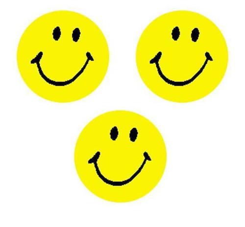 Trend Enterprises Inc 800 Neon Yellow Smiles SuperSpots mini reward Stickers