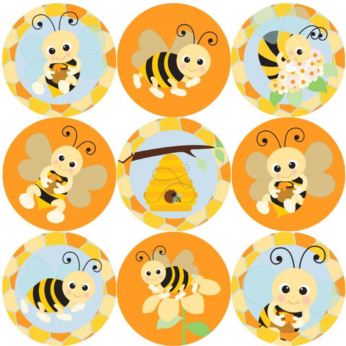 Sticker Stocker 144 Bees Buzzing 30 mm Reward Stickers for School Teachers, Parents and Nursery