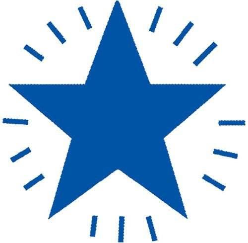 XStamper Blue Star - Self inking teacher reward xstamper xclamations stamp