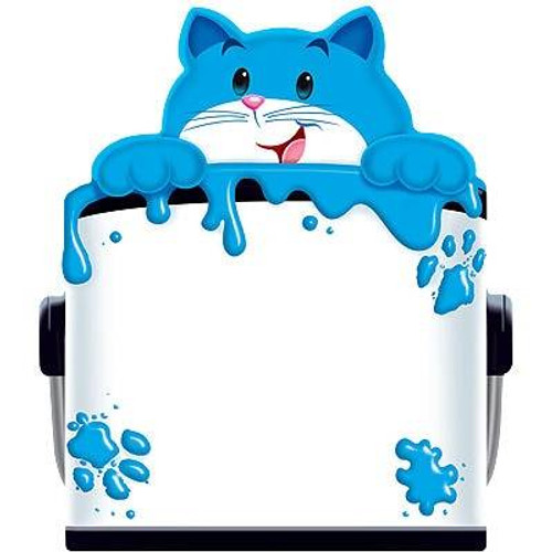 Trend Enterprises Inc Curious Colour Cat Childrens Fun shaped Note Pad