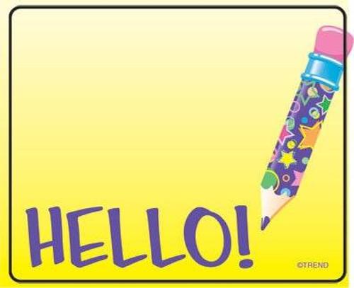 Trend Enterprises Inc 36 TREND Hello Name Tag Sticker Labels