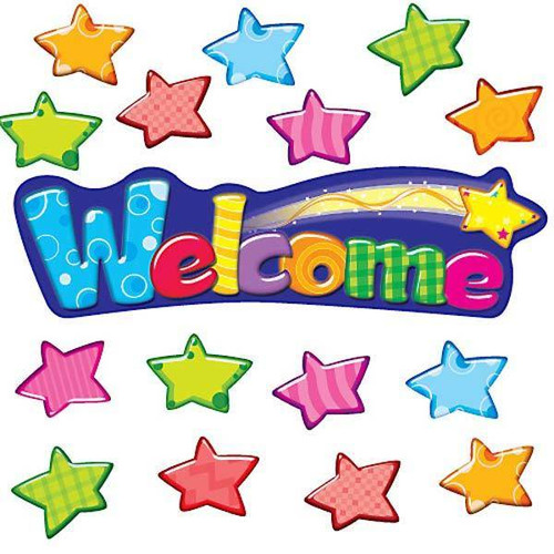Trend Enterprises Inc Welcome Stars Bulletin Board Classroom Display Set