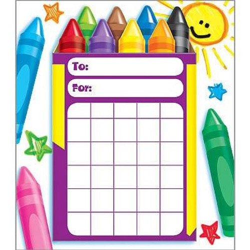 Trend Enterprises Inc Colourful Crayons Incentive Chart Pad and 200 Free Reward Stickers