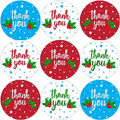 Sticker Stocker 144 Christmas Thank you 30mm Childrens Xmas Reward Stickers for Teachers or Parents