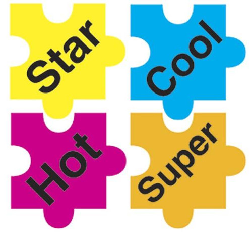 Trend Enterprises Inc 800 Puzzle Praisers superShapes chart reward Stickers