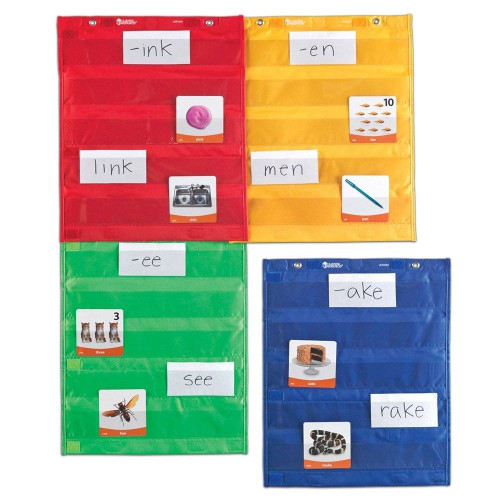 Learning Resources Learning Resources Magnetic Pocket Chart Squares Set of 4