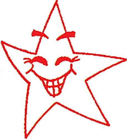 XStamper Red Smiley Star - Self inking teacher reward xstamper xclamations stamp