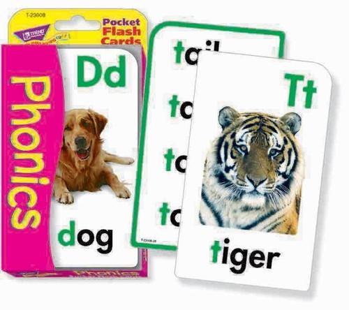 Trend Enterprises Inc Trend Teaching PHONICS Educational Pocket Flash Cards