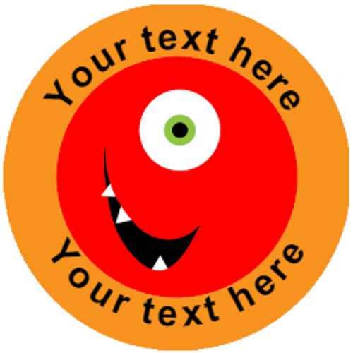 Sticker Stocker 144 Monster Smiles Personalised 30 mm Reward Stickers for School Teachers, Parents and Nursery