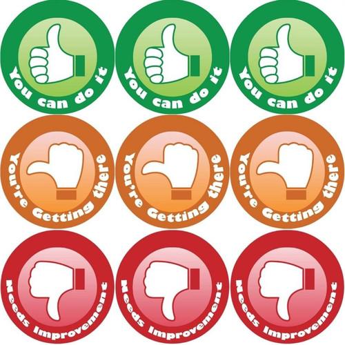 Sticker Stocker 144 Thumbs 30mm Childrens Reward Stickers for Teachers or Parents