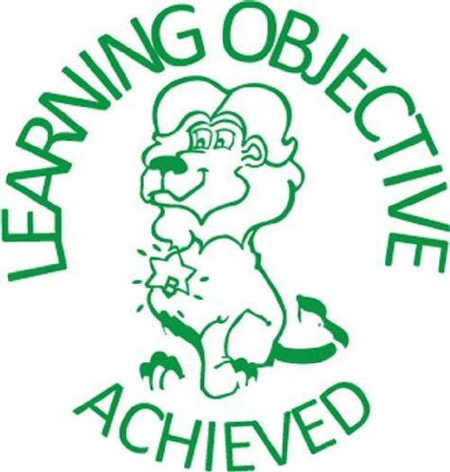 Trend Enterprises Inc Learning Objective Achieved - Self inking teacher reward xstamper xclamations stamp