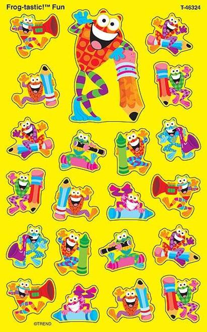 Trend Enterprises Inc 168 Frog-tastic Fun SuperShapes Teacher Reward Stickers - Large