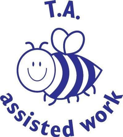 Trend Enterprises Inc Bee TA Assisted Work- Self inking teacher reward xstamper xclamations stamp