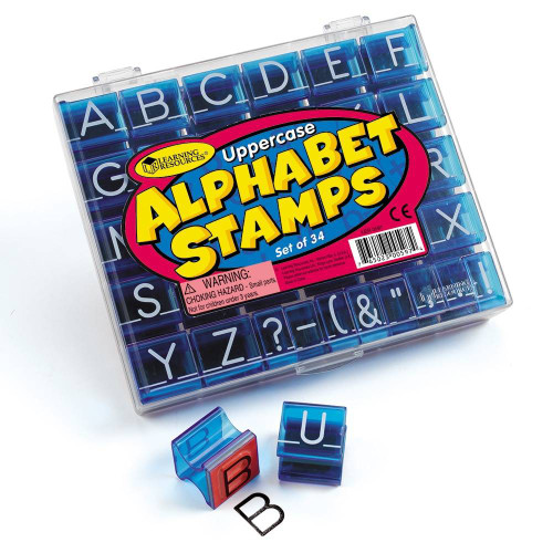 Learning Resources Learning Resources - Uppercase Alphabet and Punctuation Stamps Set