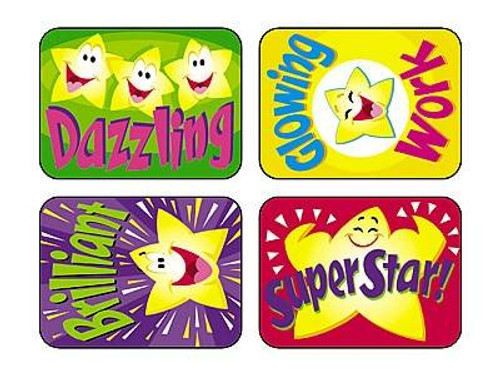 Trend Enterprises Inc TREND 100 Large Super Stars Applause reward stickers