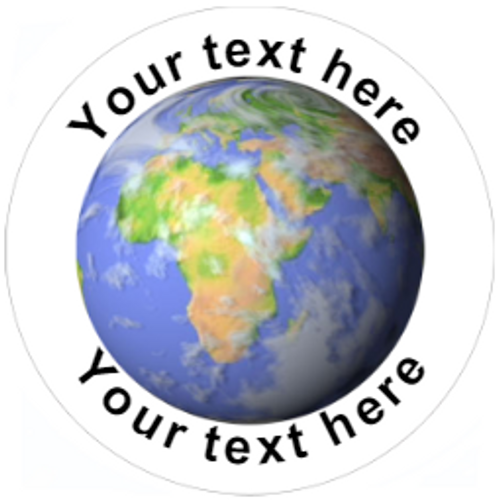 Sticker Stocker 144 Planet Earth Personalised 30mm Reward Stickers for School Teachers, Parents and Nursery