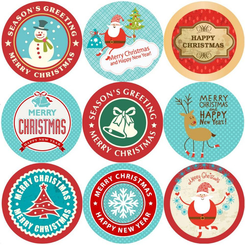 Sticker Stocker 144 Christmas Tidings 30mm Childrens Xmas Reward Stickers for Teachers or Parents