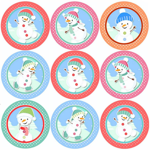 Sticker Stocker 144 Snowman Magic 30mm Childrens Christmas Reward Stickers for Teachers or Parents