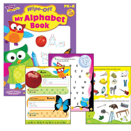 Trend Enterprises Inc My Alphabet Book Wipe-off Educational Learning Book Owl Stars