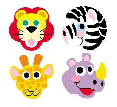 Trend Enterprises Inc 800 Zoo Animals superShapes reward Stickers