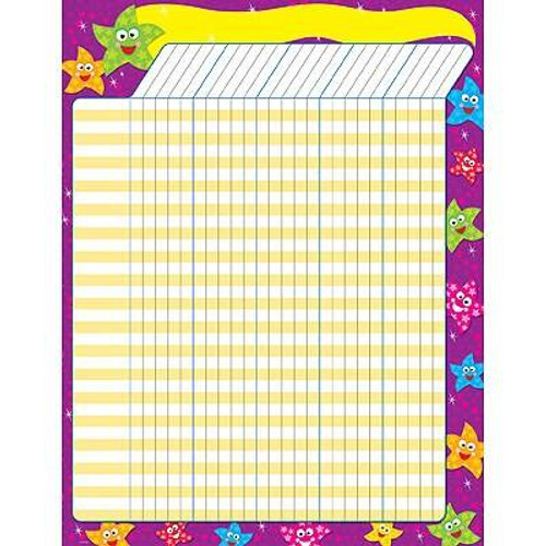 Trend Enterprises Inc Dancing Stars - Large Durable Incentive Wall Reward Chart