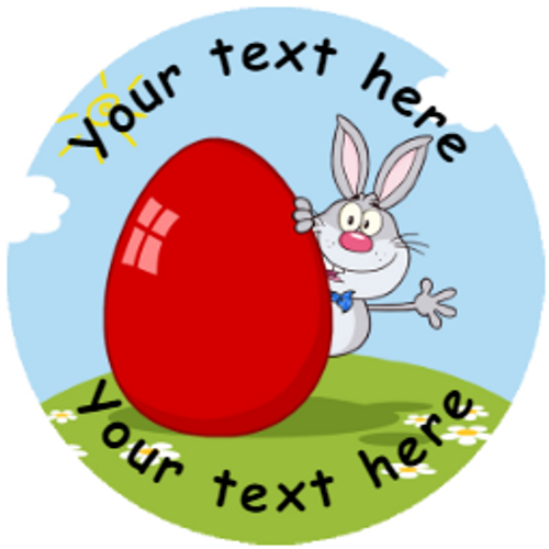 Sticker Stocker 144 Personalised Easter Bunny 30mm Reward Stickers for School Teachers, Parents and Nursery