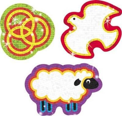 Trend Enterprises Inc Christian Symbols 40 Sparkle Reward Stickers