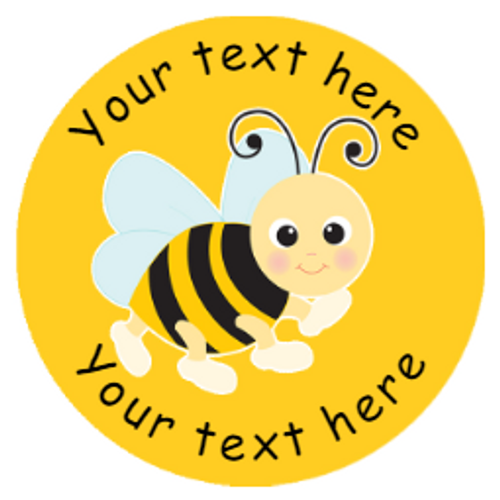 Sticker Stocker 144 Personalised Buzzing Bees 30mm Reward Stickers for School Teachers, Parents and Nursery