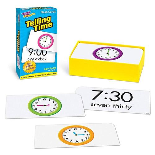 Trend Enterprises Inc Telling Time Skill Drill Educational Flash Cards