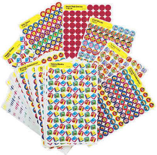 Trend Enterprises Inc 9000 SuperSpots and SuperShapes Reward Stickers bumper value pack