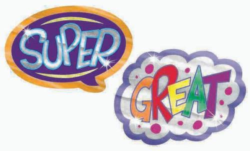 Trend Enterprises Inc Shining Words Foil Bright Teacher Reward Stickers