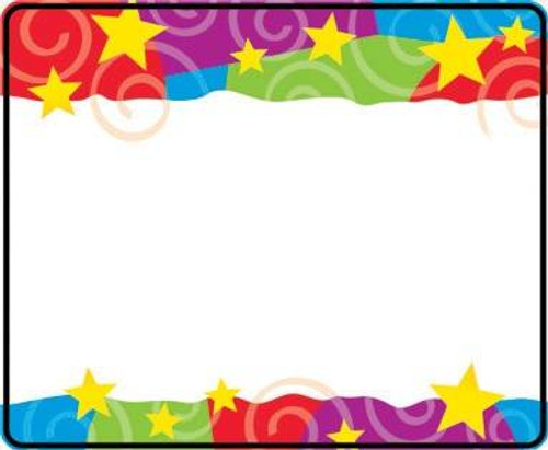 Trend Enterprises Inc 36 TREND Stars n Swirls Name Tag label Stickers