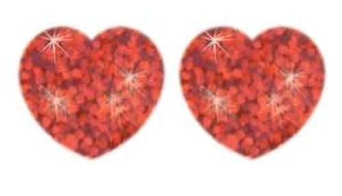 Trend Enterprises Inc 400 Red Sparkle Hearts superShapes reward stickers
