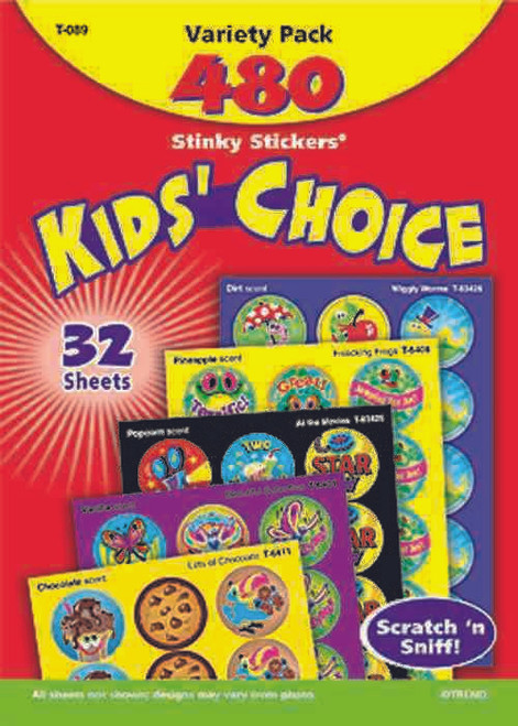 Trend Enterprises Inc Kids Choice - 480 Stinky Scratch n Sniff Stickers Variety Pack