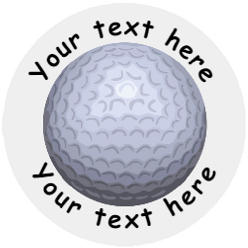 Sticker Stocker 144 Personalised Golf Ball 30mm Reward Stickers for School Teachers, Party Bag, Parents and Nursery