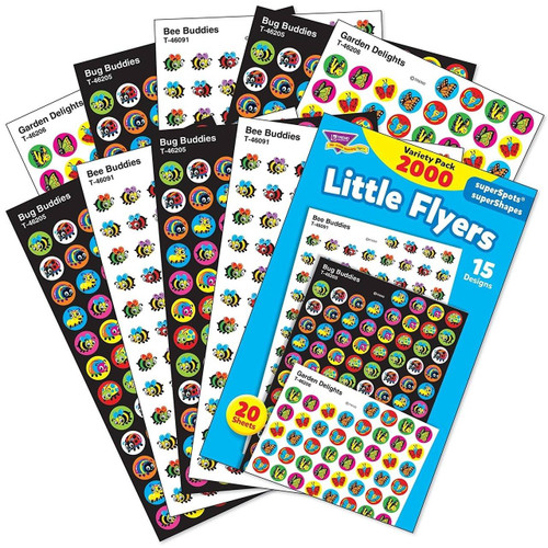 Trend Enterprises Inc 2000 Little Flyers superSpots Reward Stickers variety pack