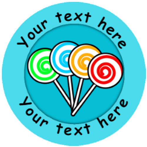 Sticker Stocker 144 Personalised Sweets Rewards 30mm Reward Stickers for School Teachers and Parents