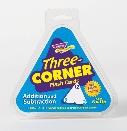 Trend Enterprises Inc Trend Three-Corner Addition and Subtraction Triangle shaped Flash Cards