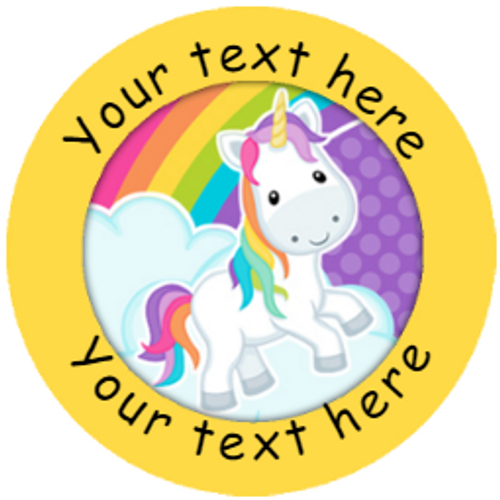 Sticker Stocker 144 Personalised Rainbow Unicorns 30mm Reward Stickers for School Teachers, Parents and Nursery