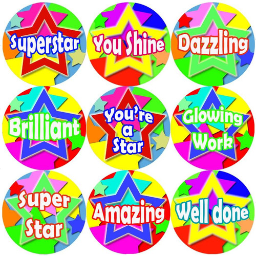Sticker Stocker 144 Superstar 30mm Reward Stickers for Teachers, Parents, Party Bags