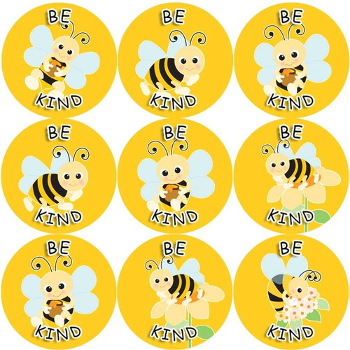 Sticker Stocker 144 Be Kind Buzzing Bee 30 mm Reward Stickers for School Teachers, Parents and Nursery