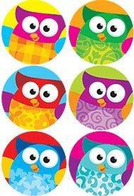 Trend Enterprises Inc 800 Owl Stars superSpots reward Stickers