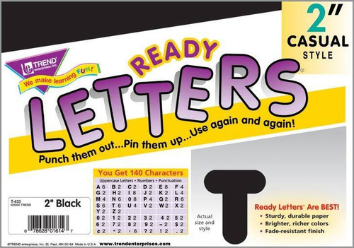Trend Enterprises Inc Trend Display Ready Letters - Black 2 Casual