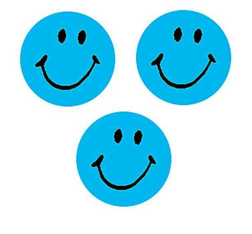 Trend Enterprises Inc 800 Neon Blue Smiles SuperSpots mini reward Stickers