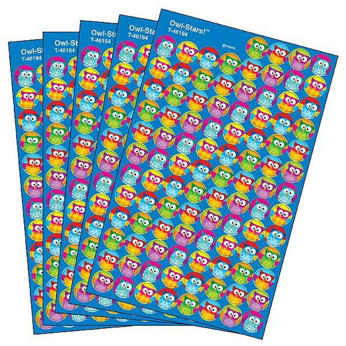 Trend Enterprises Inc 2500 TREND Owl Stars superSpots reward Stickers